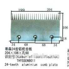 Rolltreppe 24-Teeth Aluminium Kamm Platte für Rolltreppe Teile, 24 Zähne