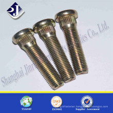 fasteners manufacturer yellow zinc plated carbon steel truck wheel bolt