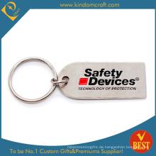 Kundenspezifische Metall Sicherheit Schlüsselbund mit Matt Nickel Beschichtung
