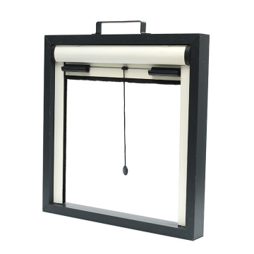 aluminium window with roller shutter and mosquito screen
