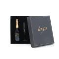 Caixa de embalagem dobrável de vinho com fecho magnético