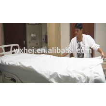 fast delivery plain style white bed sheets for hotels and hospitals
