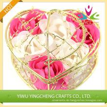 Herzförmige baskest Blumen duftende Seife für den Großhandel
