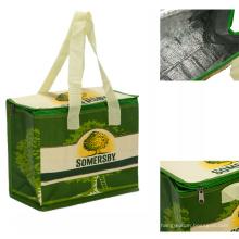 aluminium foil wine insulated lunch cooler bag