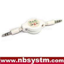 3.5 stereo plug to 3.5 stereo plug retractable cable