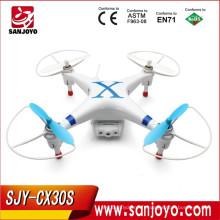 3D Drone avec Caméra FPV Moniteur! 3D RC Quadcopter Cheerson CX30S 3D Hélicoptère RC 2.4G Contrôle 4CH 6 Axe