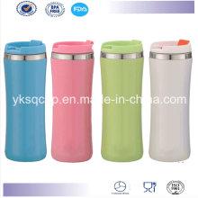 Parede dupla promocional isolados térmica aço inoxidável viajar caneca/copo de café