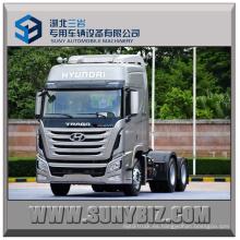 440HP Sichuan Hyundai Xcient 6X4 Camión de remolque de la cabeza del tractor