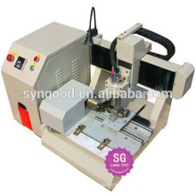Syngood Mini CNC Router SG4040/SG3040-dog tag laser engraving machine