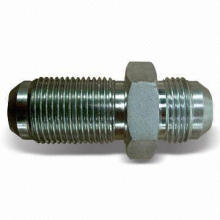 Hydraulic Coupling Fittings, Flare Tube End JIC 37, Made of Steel and Trivalent Zinc Plate