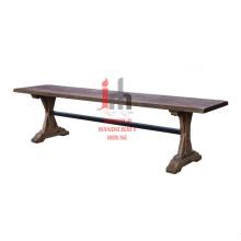 Mesa de console de madeira inacabada
