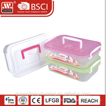 plastic storage container w/wheels 2.5L