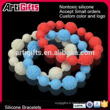 Échantillons gratuits simple inspiration boule ronde bracelet à billes