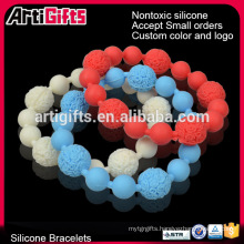 Free samples simple inspirational round bead ball bracelet
