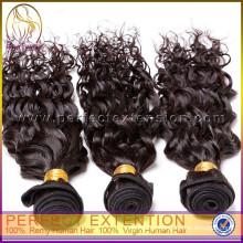 produtos amostra grátis encaracolado virgem 100% cabelo malaio, 2014 venda quente