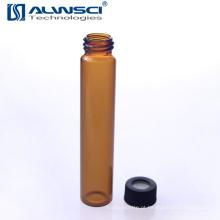 Sterile 60ml EPA Amber frasco de vidro para análises de laboratório com tampão PP preto