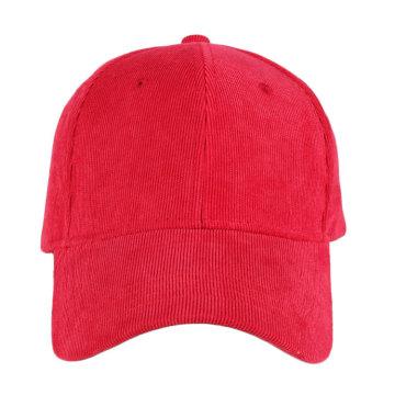 Wholesale blanc 6 panneaux de baseball en velours côtelé casquettes et chapeaux