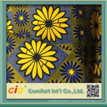 Großhandel Wachs gedruckt Stoff Ankara Print African Super Wachs Stoff Batik Print Stoff 100% Baumwolle