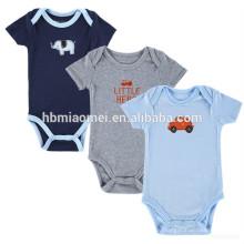Sommerkollektion Bio-Baumwolle Babykleidung Neugeborenes Baby Bodys strickte Strampler