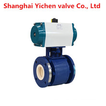 Wcb Lining Ceramic Pneumatic Flanged Ball Valve