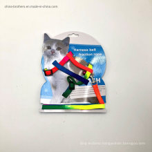 Cat Harness and Leash Adjustable Nylon Halter Harness Kitten Nylon Strap Belt Safety Rope Leads