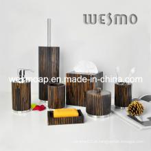 Acessórios de madeira de borracha do banho (WBW0614A)