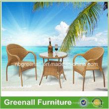 Используется Кафе стул Открытый Плетеная мебель из ротанга