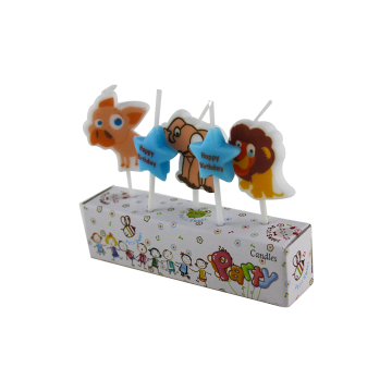 Funny Animal Themed Birthday Cake Candles