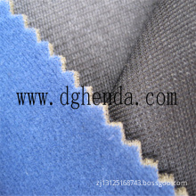 blue velvet fabric bond PU foam laminated black tricot fabric for garment