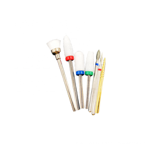 Professional 7pcs manicure accessories portable diamond ceramic nail drill bit set