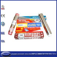 Feuille d'emballage en aluminium de ménage de prix concurrentiel