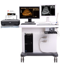 Mesin Ultrasound Trolley 3D medis dengan Workstation