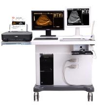 Máquina médica do ultra-som do trole 3D com estação de trabalho