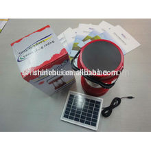 With emergency function High quality solar lantern camping led lantern with radio