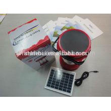 Com função de emergência Lanterna solar de alta qualidade acampamento levou lanterna com rádio