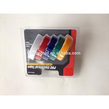 """Ruban isolant électrique de PVC de 7milx1 / 2 """"x20ft Ruban adhésif ignifuge"""