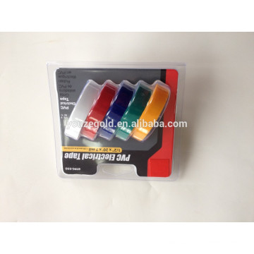 "7milx1 / 2 ""x20ft PVC Fita isolante elétrica Fita adesiva ignífuga"