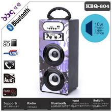 Wireless Holzkörper + Karaoke 2 Mikrofone + Vol / ECHO-Taste Bluetooth-Lautsprecher geführt
