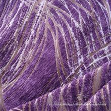 Жаккарда Синеля 100% полиэфира Покрашенная пряжей ткань для чехлов на диваны
