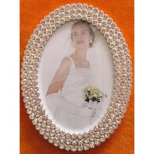 Oval Rhinestone Wedding Photo Frame