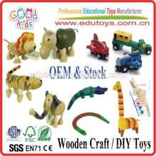 Preschool Kids Wooden Animal, Handmade Craft Baby Wooden Animal