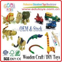 Melhor venda crianças brinquedos artesanais brinquedos de madeira DIY artesanato