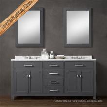 Gabinete de baño de madera sólida para la venta al por mayor
