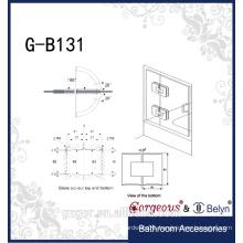 wholesale square rhombus glass door hinge for shower room door