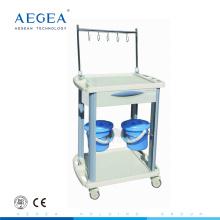AG-IT001B3 Lieferant abs iv Behandlung medizinische Krankenhaus Wäschewagen mit Schublade