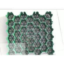 Plastik-Gitter / Plastik-Drainage und grünes schwarzes Gras-Gitter-Blatt-Form / Gras-Gitter-Form