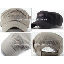 Canvas cotton good quality mens military cap hot sale