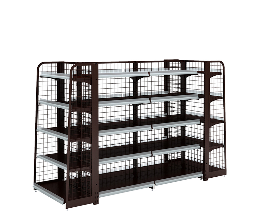 Steel Korean Style Supermarket Shelving