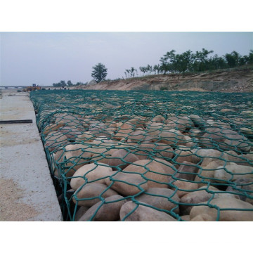 PVC Gabion Mesh Stützmauer