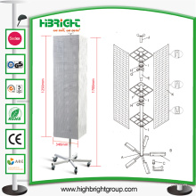 Recubrimiento de pintura en polvo promocional y estante giratorio de mostrador superior